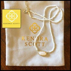 Kendra Scott Elisa Beaded Pendant in MOP & Gold.🆕